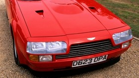 aston martin, 1986, red, front view, aston martin, v8, vantage, car - wallpapers, picture