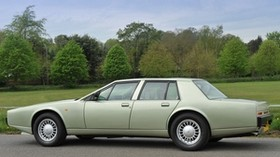 aston martin, 1987, green, side view, auto, aston martin, lagonda, sky, grass - wallpapers, picture