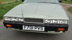 aston martin, 1987, green, front view, style, aston martin, lagonda, houses - wallpapers, picture
