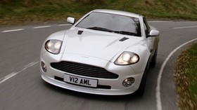 aston martin, 2004, white, front view, auto, aston martin, v12, vanquish - wallpapers, picture
