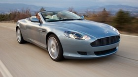 aston martin, 2004, blue, front view, style, aston martin, db9, auto, nature - wallpapers, picture