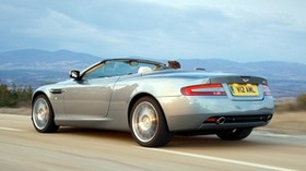 aston martin, 2004, gray, side view, style, aston martin, db9, auto, speed, mountains - wallpapers, picture