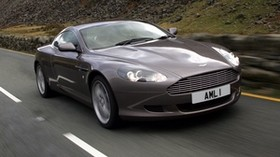aston martin, 2004, gray, front view, style, auto, aston martin, db9, speed, nature, asphalt - wallpapers, picture