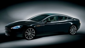 aston martin, 2006, black, side view, concept car, aston martin, rapide, car - wallpapers, picture