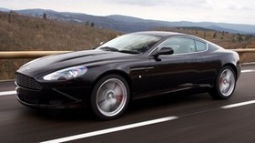 aston martin, 2006, black, side view, sport, aston martin, db9, auto, mountains, nature - wallpapers, picture