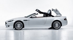 aston martin, 2008, white, side view, style, sport, aston martin, db9, car - wallpapers, picture