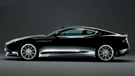 aston martin, 2008, black, side view, aston martin, dbs, car - wallpapers, picture