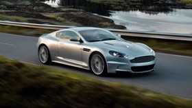aston martin, 2008, silver metallic, side view, auto, aston martin, dbs, nature, speed - wallpapers, picture