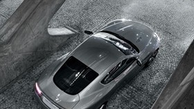 aston martin, 2008, metallic gray, top view, style, aston martin, db9, auto, reflection - wallpapers, picture