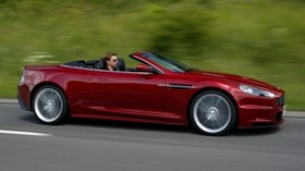 aston martin, 2009, red, side view, auto, aston martin, dbs, speed, nature - wallpapers, picture
