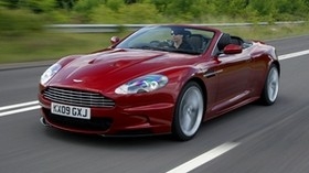 aston martin, 2009, red, side view, sport, style, aston martin, dbs, nature - wallpapers, picture