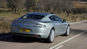 aston martin, 2009, silver, rear view, aston martin, rapide, nature - wallpapers, picture