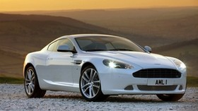 aston martin, 2010, white, side view, style, sport, aston martin, db9, auto, nature, sunset - wallpapers, picture