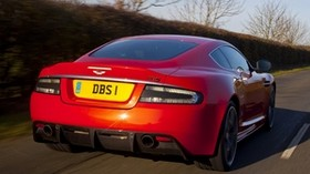 aston martin, 2011, red, auto, rear view, sport, aston martin, dbs, speed - wallpapers, picture