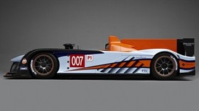 aston martin, amr-one, lmp1, 2011, white, orange, side view, style - wallpapers, picture