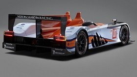 aston martin, amr-one, lmp1, 2011, orange, white, rear view, sports, aston martin, auto - wallpapers, picture