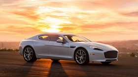 aston martin, auto, white, sunset - wallpapers, picture