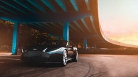 aston martin, car, luxury, bridge - wallpapers, picture