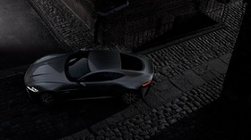 aston martin, db10, black, top view - wallpapers, picture