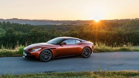 aston martin, db11, side view, sunset - wallpapers, picture