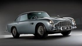 aston martin, db5, 1964, silver, side view - wallpapers, picture