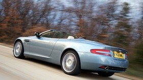 aston martin, db9, 2004, blue, side view, style, aston martin, speed, asphalt - wallpapers, picture