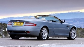 aston martin, db9, 2004, blue, side view, style, auto, nature, mountains - wallpapers, picture