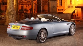 aston martin, db9, 2004, blue, side view, style, sport, aston martin, auto, street, houses, monument, tree, lantern - wallpapers, picture