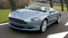 aston martin, db9, 2004, blue, front view, auto, aston martin, speed, trees, nature - wallpapers, picture