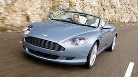 aston martin, db9, 2004, blue, front view, sports, aston martin, auto, speed - wallpapers, picture