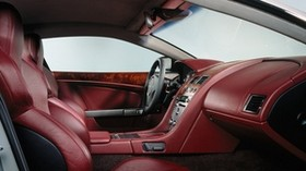 aston martin, db9, 2004, red, salon, interior, steering wheel - wallpapers, picture