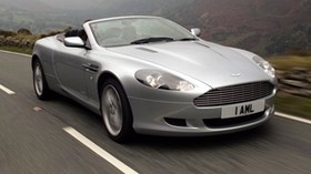 aston martin, db9, 2004, silver metallic, side view, style, sport, aston martin, auto, speed, nature, mountains - wallpapers, picture