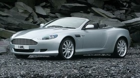 aston martin, db9, 2004, silver metallic, front view, sport, car - wallpapers, picture