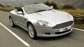 aston martin, db9, 2004, silver metallic, front view, style, aston martin, speed, nature - wallpapers, picture
