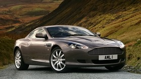 aston martin, db9, 2004, metallic gray, side view, style, auto, aston martin, nature - wallpapers, picture
