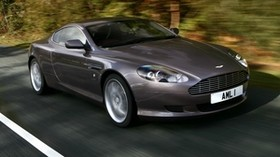 aston martin, db9, 2004, gray, side view, style, aston martin, auto, speed, trees, asphalt - wallpapers, picture