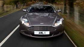 aston martin, db9, 2004, gray, front view, style, aston martin, auto, speed, nature, trees, grass - wallpapers, picture