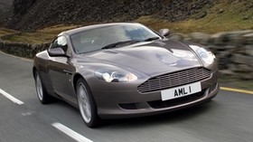 aston martin, db9, 2004, gray, front view, style, sport, aston martin, auto, speed, asphalt - wallpapers, picture