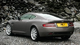aston martin, db9, 2004, gray, rear view, style, car - wallpapers, picture