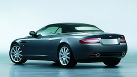 aston martin, db9, 2004, blue, side view, auto, aston martin, reflection - wallpapers, picture