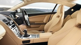 aston martin, db9, 2006, beige, interior, interior, steering wheel, speedometer - wallpapers, picture