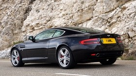aston martin, db9, 2006, black, side view, style, aston martin, auto, sports, rock - wallpapers, picture