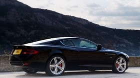 aston martin, db9, 2006, black, side view, style, auto, aston martin, sport, nature, sky, mountains, trees - wallpapers, picture