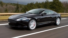 aston martin, db9, 2006, black, side view, style, sport, aston martin, auto, speed, trees, asphalt - wallpapers, picture