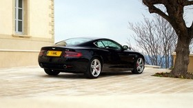 aston martin, db9, 2006, black, side view, style, sport, aston martin, auto, building, tree, sky - wallpapers, picture