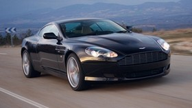 aston martin, db9, 2006, blue, front view, style, sport, aston martin, auto, nature, mountains, asphalt, speed - wallpapers, picture