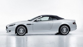 aston martin, db9, 2008, white, side view, style, car - wallpapers, picture