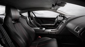 aston martin, db9, 2008, black, interior, salon, steering wheel - wallpapers, picture