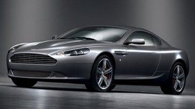 aston martin, db9, 2008, metallic gray, side view, style, aston martin, auto - wallpapers, picture
