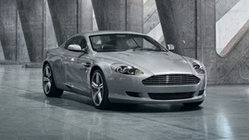 aston martin, db9, 2008, metallic gray, front view, style, auto, reflection - wallpapers, picture
